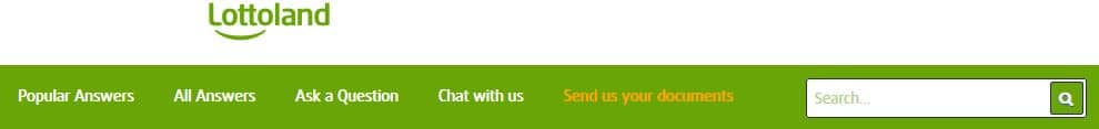 Lottoland Customer Service Page