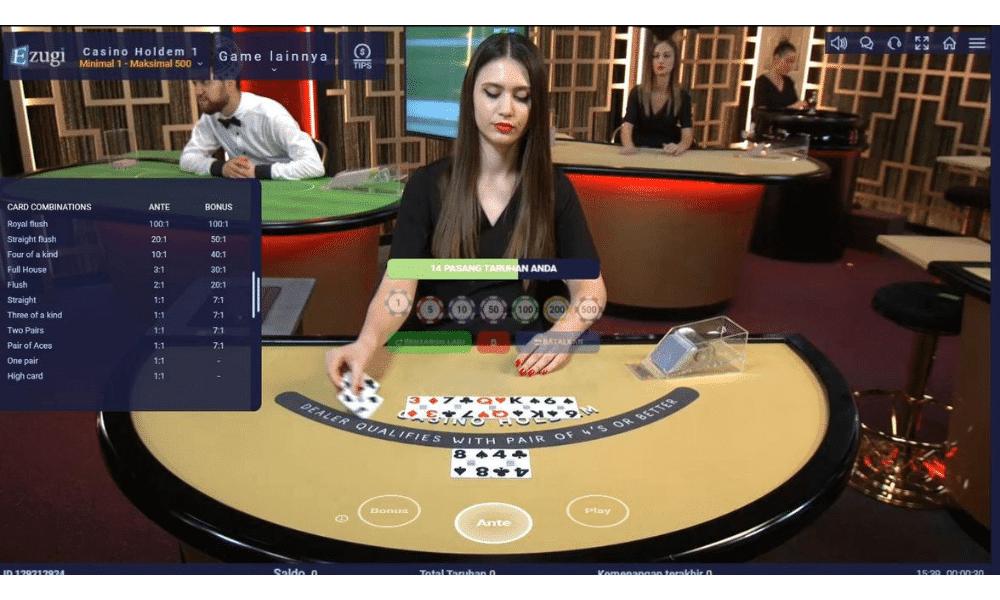 Ezugi Casino Holdem