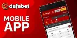 Mobile device displaying the dafabet android app