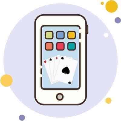 Phone screen showing mobile casino